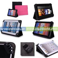Vigoworld Standing Leather Case For Samsung Galaxy Note 10.1 Black (With Four Patent Corner Claws) thumbnail image