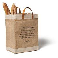 Custom jute honeymoon tote bag with leather handles