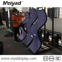 ultra thin P2/P2.5/P3/P6/P8 creative flexible led screen customized led display with high flexibilit