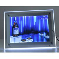 LED crystal backlit light box