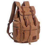 10oz vintage drawstring hunting softback mountain laptop wholesale china back pack travelling canvas