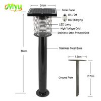 6W 2200V Solar Powered Pest Control Insect Killer Bug Zapper for Garden