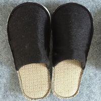Cheap handmade wool felt sauna slippers
