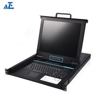 AZE Rackmount KVM Console - 1U 19in Display- 8 Port KVM - VGA KVM - Rack Mount Monitor - Rackmount L thumbnail image
