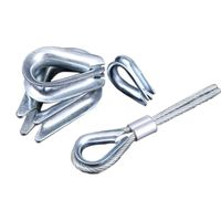 Rigging hardware zinc plated wire rope thimble
