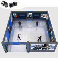 Multiplayer Interactive simulator 9D VR technology Indoor projector shooting games equipment