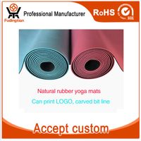 Custom Logo With Carrying Strap Folding Chakra Rubber Eco Friendly Yoga Mat