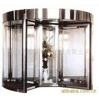 Four-wing stainless Steel Automatic Revolving Door (With Display Platform)