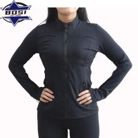 Wholesale cheap high quality all black workout clothes zip up jogging suits thumbnail image
