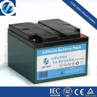 Rechargeable 12V Lithium ion battery With Capacity 26Ah