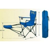 Foldable chair with cupholder & footrest thumbnail image