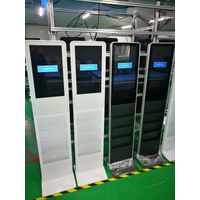22 inch floor standing slim lcd digital signage with brochures holder thumbnail image