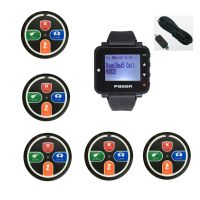 Hospital wireless calling system nurse call button Pocsag watch pager