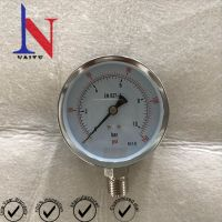 100mm 10bar Bottom Connection Mild Steel Bezel Pressure Gauge