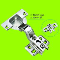 two way hinge half-overlay 40mm cup furniture hinge