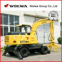 8 ton wheel excavator DLS880-9A with sugarcane gripper for sale thumbnail image