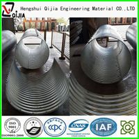 flanged semicircle corrugated culvert pipe