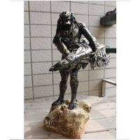 "Hot 15"" Predator vs Alien Hunter Warrior Figure Statue AVP Model Toy Collectible"