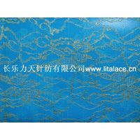 M5004 grape flower ace lace fabric with gold thread thumbnail image