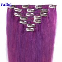 Unprocessed brazilian hair 32 inch hair extensions clip in,remy human clip in hair extension,tangle thumbnail image