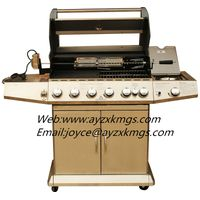 Outdoor barbecue stainless gas grill