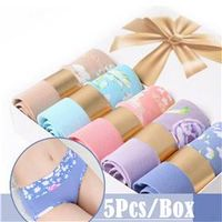5pcs/Lot Gift Box Women's Sexy Panties Seamless Modal Breathable Panties Beauty Briefs Girl Underwea