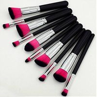 2015 best selling 10pcs powder kabuki brush cosmetic set
