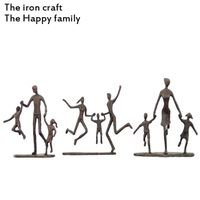 China sculpture or iron Crafts and Gifts or Handicrafts the Happy family made by iron