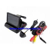 """""""Luxurious Suit"""" Car Reversing Camera Kit with 4.3inch flip down monitor and high quality camera thumbnail image"""