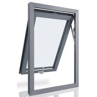 aluminium exterior top-hung window for construction