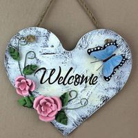 Wholesale Superior Quality MDF Craft Door Plate Butterfly Craft For Home And Garden Decoration