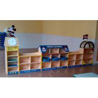 2014 Newest Preschool Furniture Kids Toys Display Case