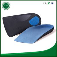 Newest design half insole arch support orthotic eva increase insole