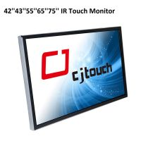 infrared touch screen large size 65 inch industrial wall mounted touch lcd monitor display thumbnail image