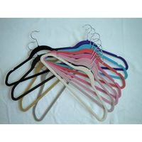 flocked suit hangers