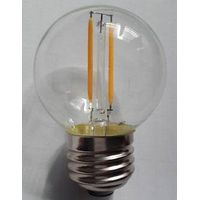 Round G45 clear glass e27 brass dimmable led bulb