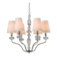 6 Light Clear K9 Crystal Chandelier