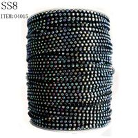 SS8 Strass Rhinestone Banding For Jewelry Findings, Plastic trimming rhinestones