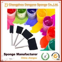 Cheap touch-up work painting craft used synthetic foam pad sponge brushes