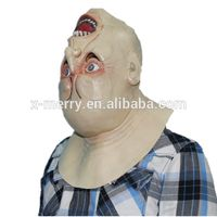 X-MERRY TOY Deluxe Novelty Halloween Costume Party Latex Upside down Full Head Mask x14001A