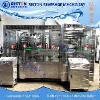 Small scale Automatic Tin Can energy drink / Juice / Carbonated Drink Filling Sealing Machine