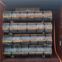 UHP 400mm 450mm graphite electrode with nipples