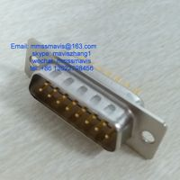 d-sub miniature rectangular electrical connector 15 pins male plug