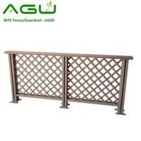 Wood Plastic Composite WPC Fencing Outdoor Guardrail Pergola Fence