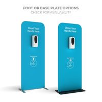 Freestanding hand sanitiser station floor sign display stand for outdoor public place thumbnail image