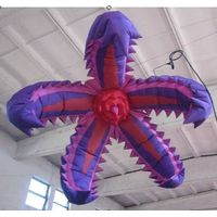2m Lighting Toothed Inflatable Flower for Party and Event Decoration