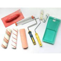 design cage system paint roller with plastic pp+tpr handle