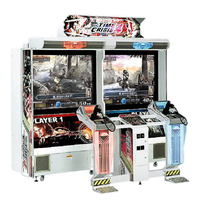 Large gun shooting game to resolve crisis 4 coin simulation video game console