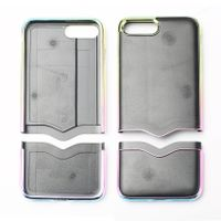 customized iPhone separate up down part insert paste leather case injection molding thumbnail image