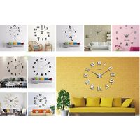 3D Digital Wall Clock DIY Acrylic Quartz Large Size Wall Clock